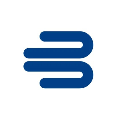 Closed-up logo in a blue colour and white background, the company logo of Bauerfeind Australia.