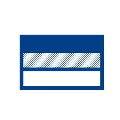 Closed-up logo of a flag in a blue colour and white background that represents the country of Germany where the products of Bauerfeind Australia originated and made.