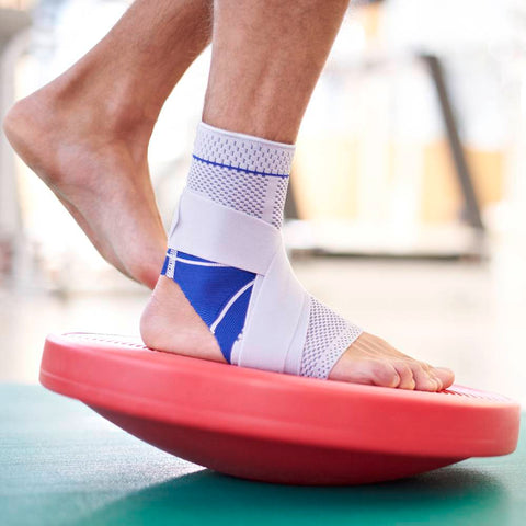 Bauerfeind ankle brace to assist to manage ankle swelling