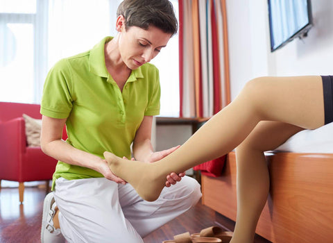 Stockings for chronic venous insufficiency