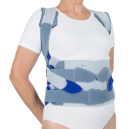 Bauerfeind SofTec Dorso for a pronounced rounded back and several vertebral fractures.