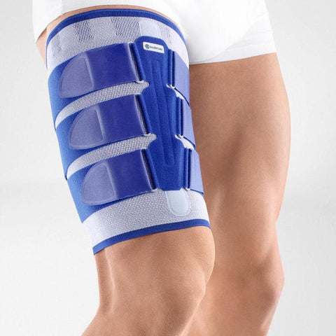 Bauerfeind MyoTrain Thigh brace to support injuries to the thigh or hamstring