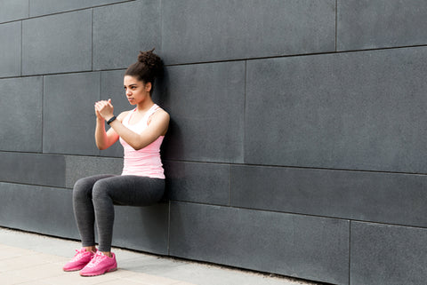 Wall sit one exercise that helps with stability training