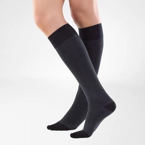 Black knee-high socks. It is one of Bauerfeind Australia's best compression socks, VenoTrain Cocoon Compression Socks.