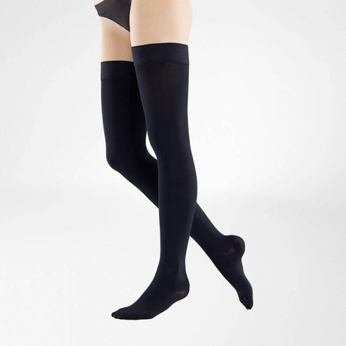 VenoTrain Micro Thigh High Compression Stockings - Black - Bauerfeind Australia
