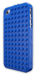 SmallWorks BrickCase for iPhone4 Blue