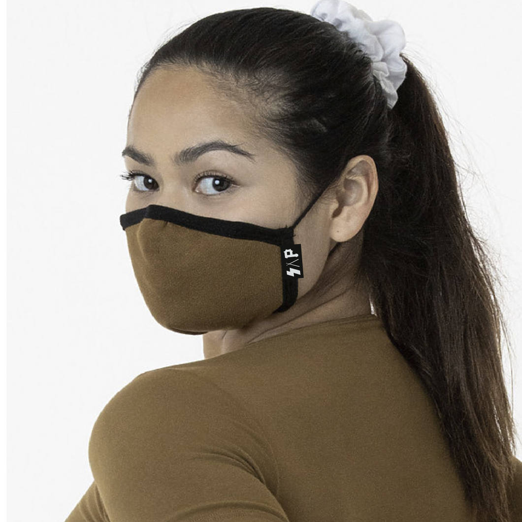 S.A.P. brown adjustable mask