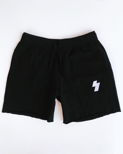 embroidered sweat shorts