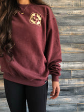 maroon heather lifesaver S.A.P. x Champion Crew