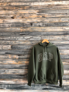 olive/white S.A.P hoodie