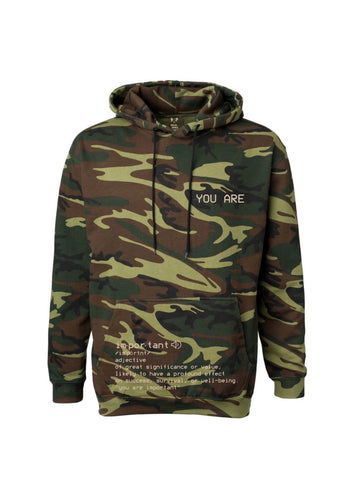 woodland camo definition hoodie S.A.P. x Kevin Hines Collaboration