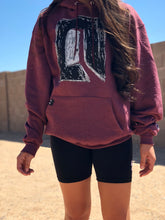 maroon heather S.A.P. x Champion door hoodie