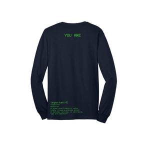 S.A.P. x Kevin Hines you are important LS tee navy