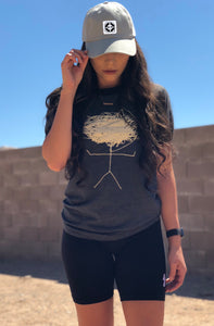 "charcoal / cream ""scribble head"" tee"