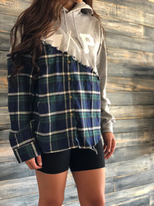 gray S.A.P. flannel/hoodie