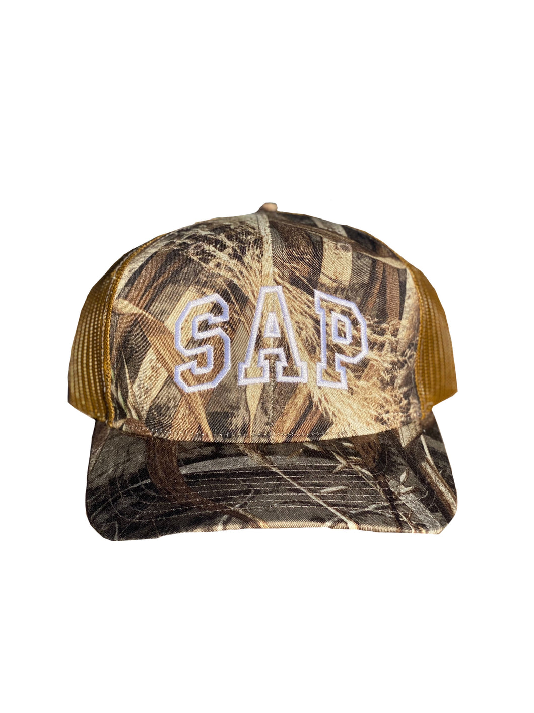 waterfowl camo trucker cap