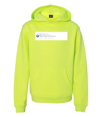 """people will no longer take mental health for a joke"" Kanye tweet hoodie"