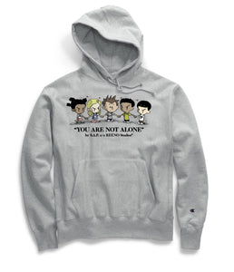 "S.A.P. x REENO Studios® ""you are not alone"" reverse-weave hoodie"