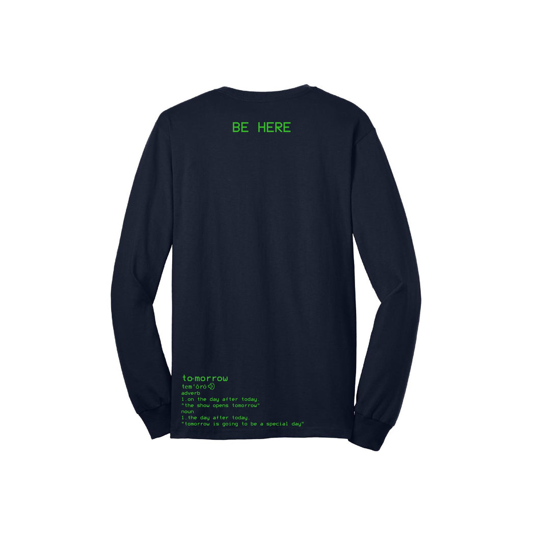 S.A.P. x Kevin Hines be here tomorrow LS tee navy