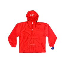 "red S.A.P. x Champion ""suffering in disguise"" windbreaker"
