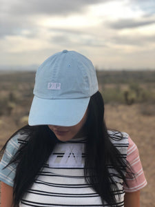 powder blue box logo cap
