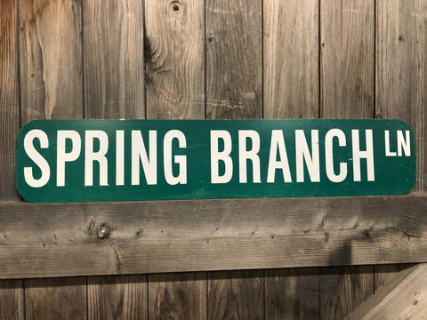 American Road Sign Spring Branch Lane
