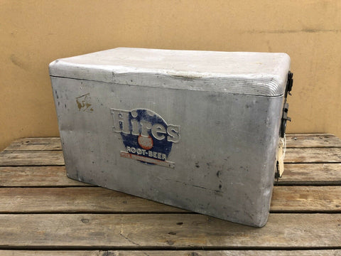 Hires Root Beer Aluminium Cool Box 1960s