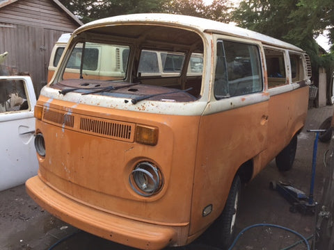 1978 VW Bay window Camper Bus Project Tin Top