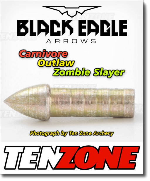 BLACK EAGLE - Carnivore Zombie Outlaw Glue-In Target Point - 12pk