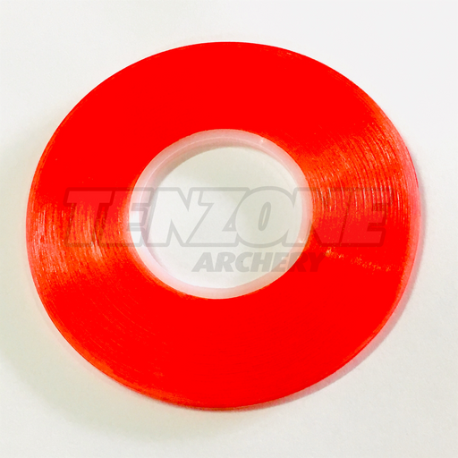 One roll of red Bohning Archery premium fletching tape. The Ten Zone Archery logo is visible as a watermark over the image.