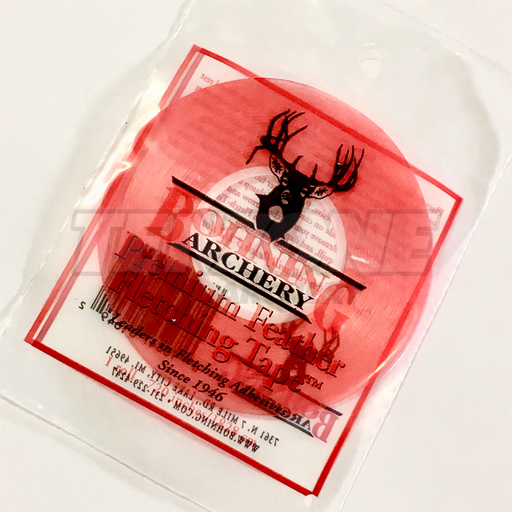 Bohning Archery premium fletching tape in its packaging. The Ten Zone Archery logo is visible as a watermark over the image.