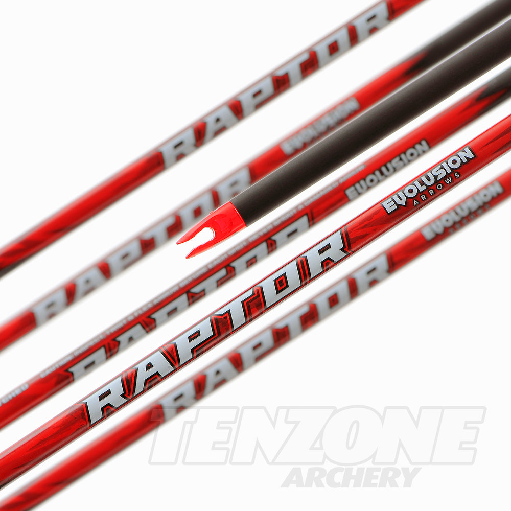 Raptor .003 3D and bowhunting shaft by Evolusion Arrows from Ten Zone Archery