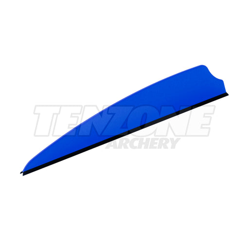 One blue Q2i X-II 3-inch vane with a black base. The Ten Zone Archery logo is visible as a watermark over the image.