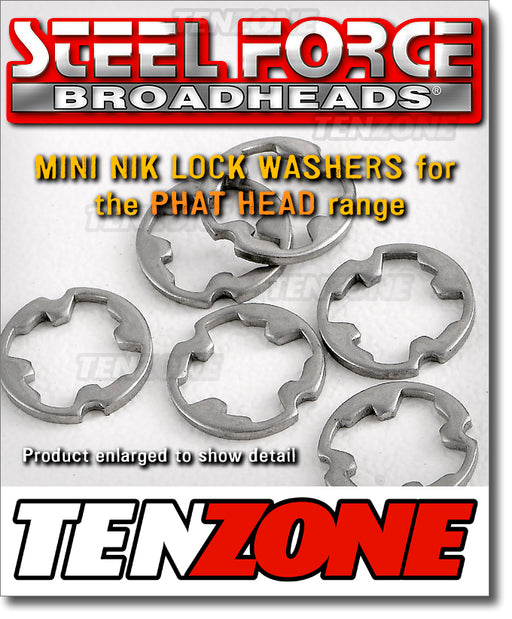 STEELFORCE - Nik Lock Washer SS Mini for Phathead Broadhead - 6pk