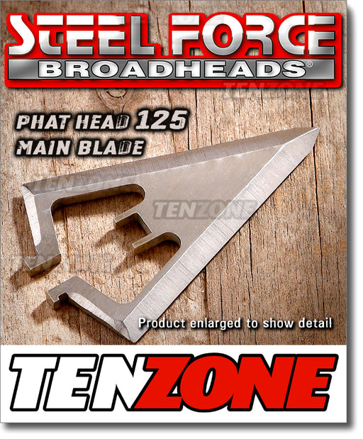 STEELFORCE - Phat Head Broadhead - Blade only .080