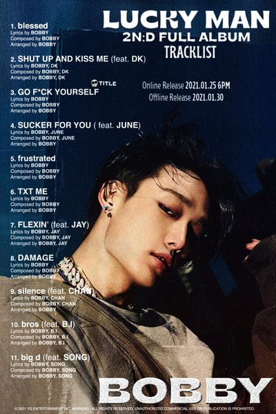 BOBBY (IKON) 2nd FULL ALBUM - LUCKY MAN