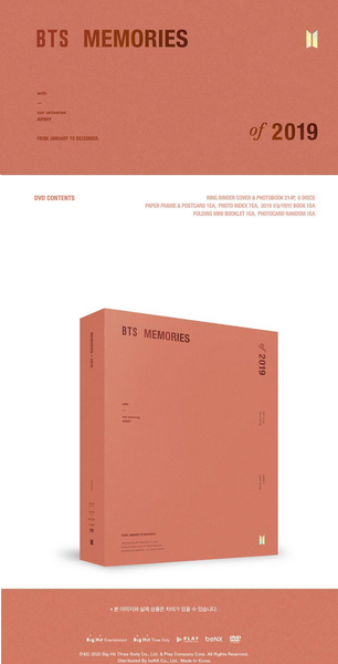 BTS - BTS MEMORIES OF 2019 DVD