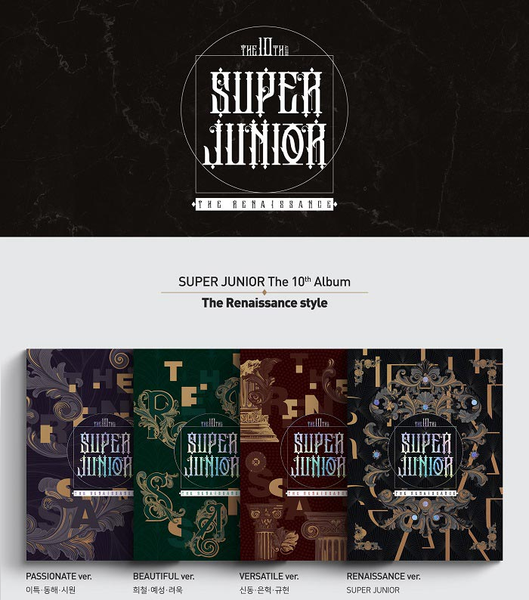 Super Junior Album Vol. 10 - The Renaissance (The Renaissance Style)