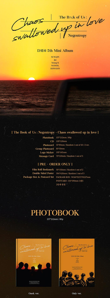 DAY6 Mini Album Vol. 7 - The Book Of Us : Negentropy - Chaos Swallowed Up In Love - [Preventa]
