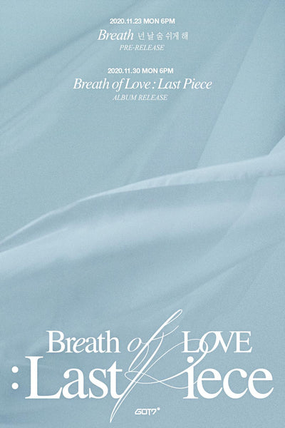 GOT7 Album Vol. 4 - Breath Of Love : Last Piece - [Preventa]
