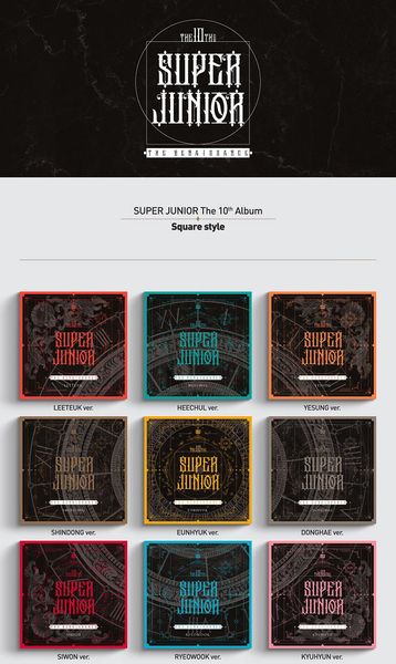 Super Junior Album Vol. 10 - The Renaissance (Square Style)