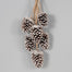 "22"" Pinecone X 6 Drop Ornament w/Hanger"