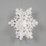 Foam 3D Snowflake Ornament w/Hanger - Snow