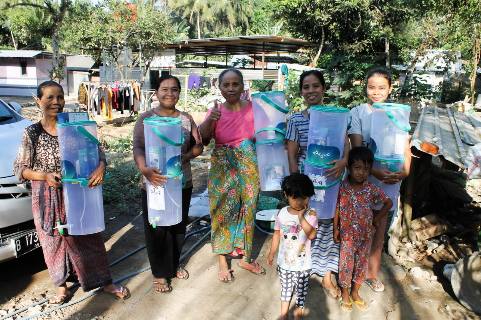 Providing Filters Fresh Clean Water Supply Drinking Water Hygiene Sanitation Indonesia
