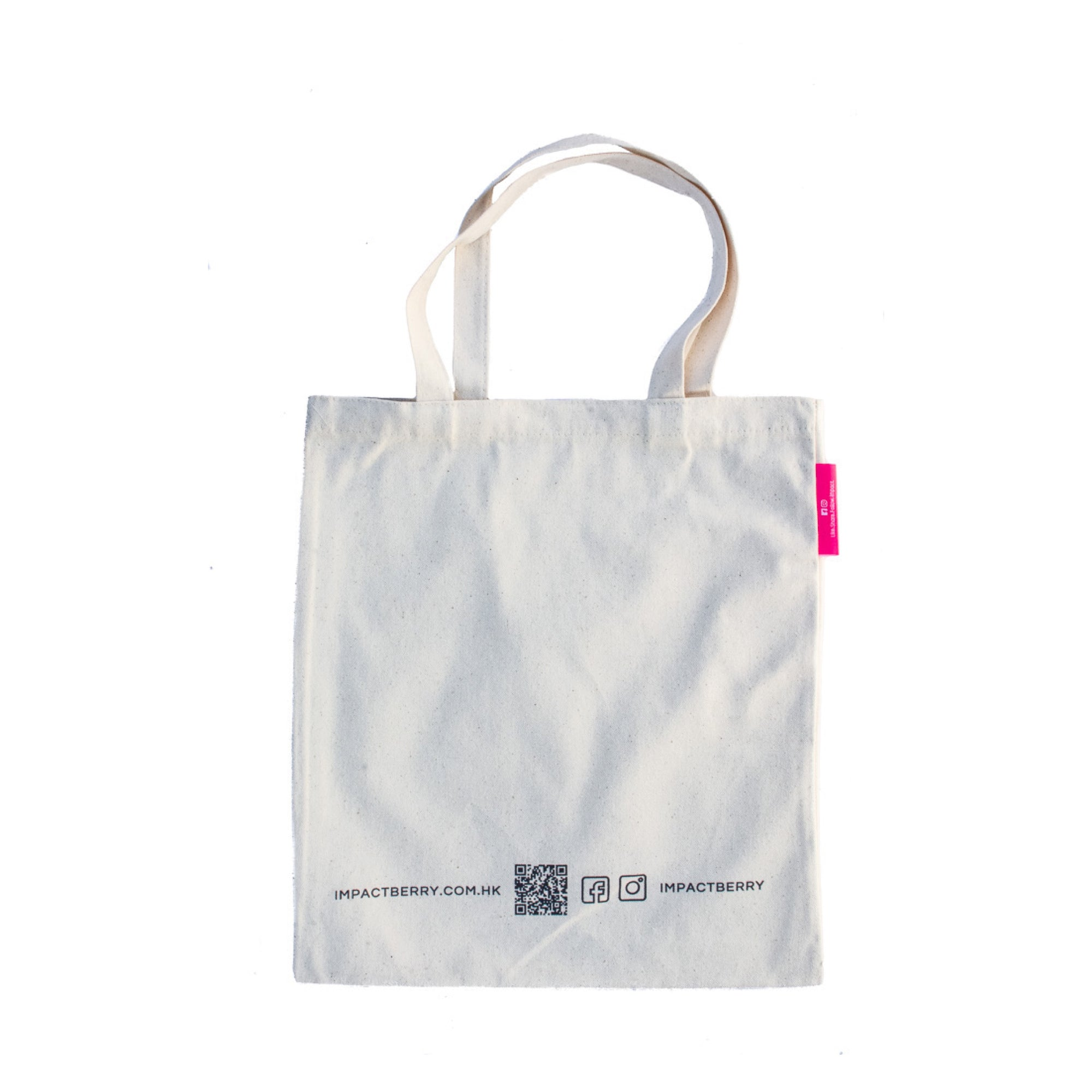 Tote Bag Impact Berry Organic Fairtrade Coffee Front