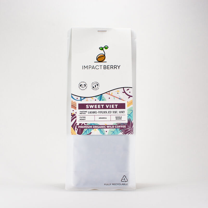 咖啡豆香港 v1a_Impact Berry Organic Fairtrade Arabica Coffee Beans Buy Online Hong Kong Sweet Viet LDPE_front