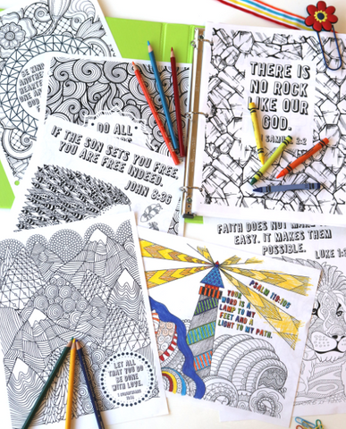 KJV 127 Sheet Coloring Page Bundle