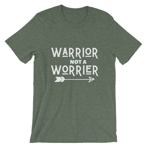 Warrior Not Worrier Short Sleeve Tee