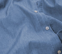 Load image into Gallery viewer, Blue Chambray Cutaway Collar Shirt