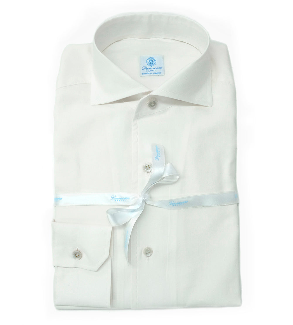 Shirt Cashmere - Wool Mix Cream